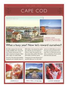 Cape Cod flyer - page 1.