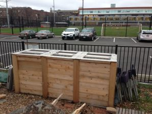 Our cool new compost bins